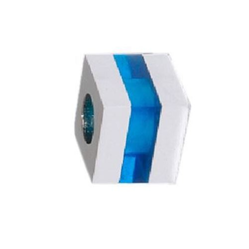 Picture of BEAD ACERO 316 L, CUBO GLASS AZUL
