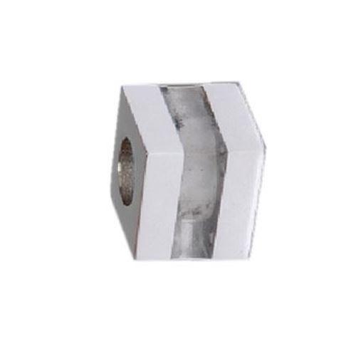 Picture of BEAD ACERO 316 L, CUBO GLASS TRANSPARENTE