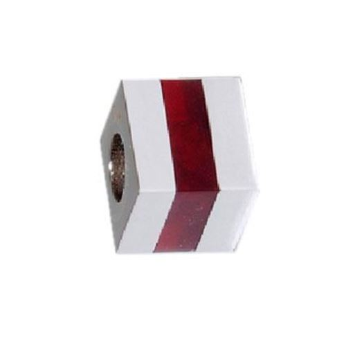 Picture of BEAD ACERO 316 L, CUBO GLASS ROJO