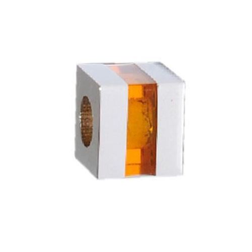 Picture of BEAD ACERO 316 L, CUBO GLASS TOPAZ