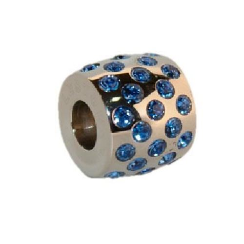 Picture of BEAD ACERO 316 L, SWAROWSKY AZUL