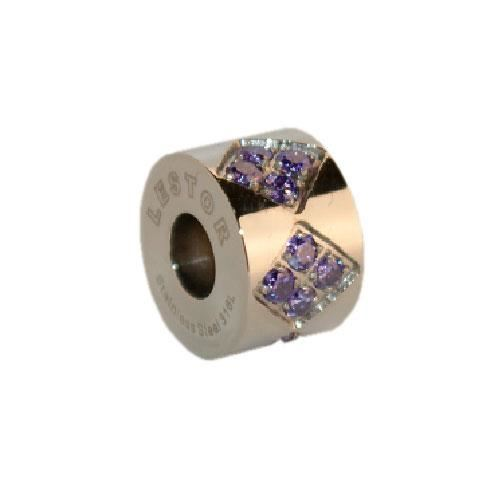 Picture of BEAD ACERO 316 L, CIRCONITA AMATISTA