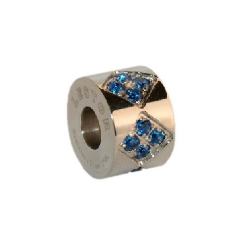 Picture of BEAD ACERO 316 L, CIRCONITA AZUL