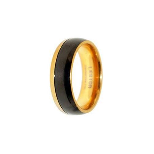 Picture of ANILLO ACERO 316 L, IP NEGRO Y GOLD