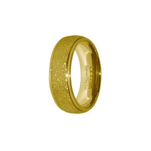 Picture of ANILLO ACERO 316 L, DIAMANTADO GOLD
