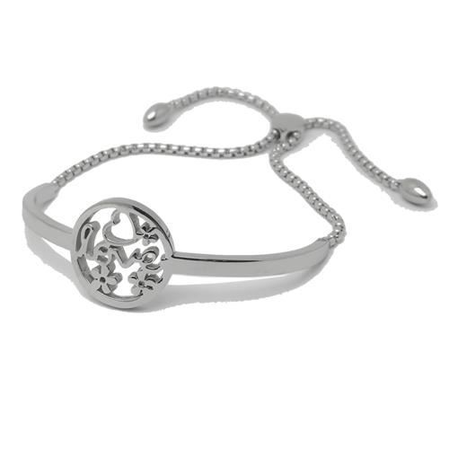 Picture of BRAZALETE MIX SS 316 L, CORREDERA LOVE FLORES
