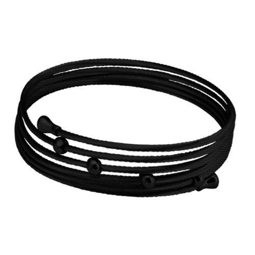 Picture of BRAZALETE CABLES IP NEGRO 316 L, BOLAS IP NEGRO