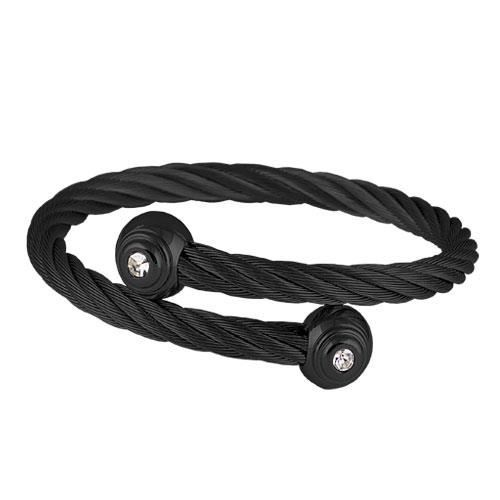 Picture of BRAZALETE CABLE ACERO 316 L, IP NEGRO, BLANCA