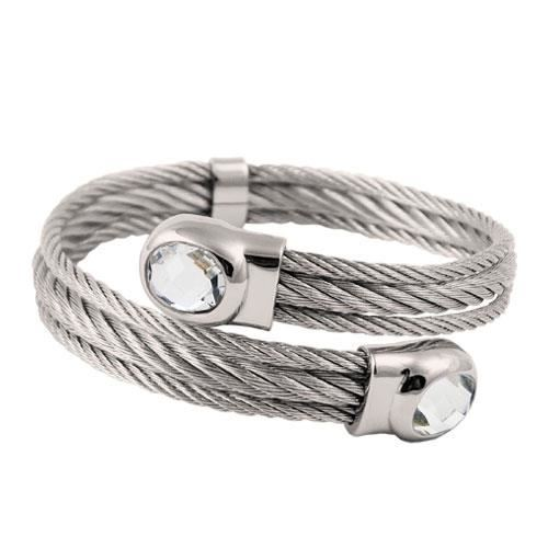 Picture of BRAZALETE CABLE ACERO 316 L, BLANCO