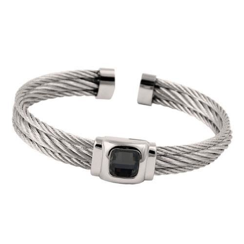 Picture of BRAZALETE CABLE ACERO 316 L, NEGRO