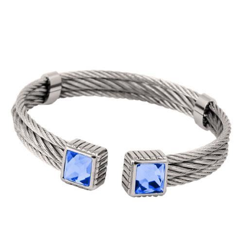 Picture of BRAZALETE CABLE ACERO 316 L, AZUL