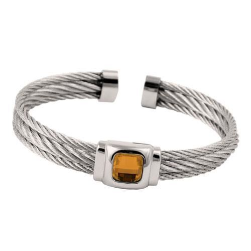 Picture of BRAZALETE CABLE ACERO 316 L, NARANJA