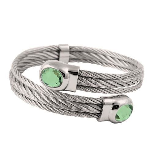 Picture of BRAZALETE CABLE ACERO 316 L, VERDE