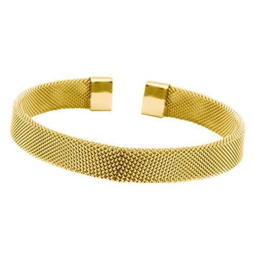 Picture of BRAZALETE MALLA 8 mm ACERO 316 L, IP GOLD