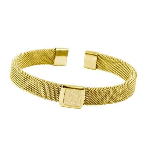 Picture of BRAZALETE MALLA ACERO 316, GLAZY GOLD, IP GOLD