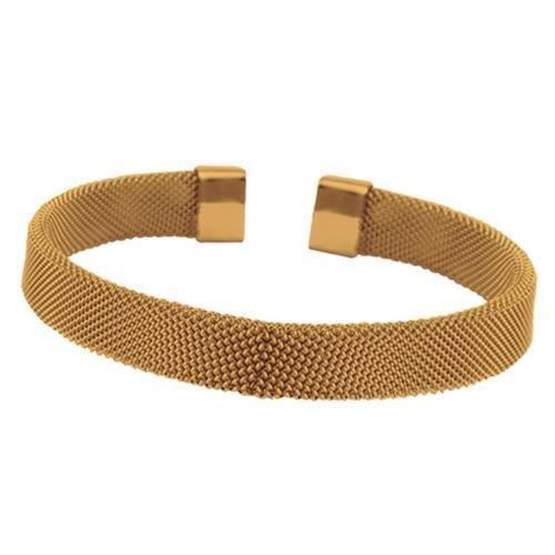 Picture of BRAZALETE MALLA 8 mm ACERO 316 L, IP ROSE