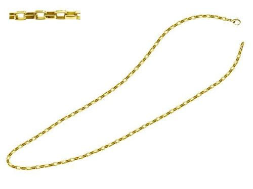 Picture of CADENA 5,4x3 mm SS 316 L, IP GOLD, 45 cm