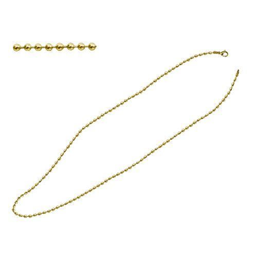 Picture of CADENA BOLAS 2 mm SS 316 L, IP GOLD 80 cm