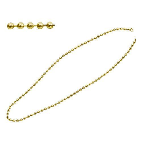 Picture of CADENA BOLAS 3,2 mm SS 316 L, IP  GOLD 80 cm