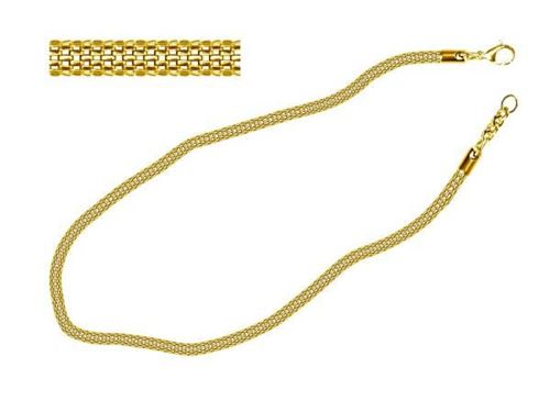 Picture of COLLAR MALLA 4 mm SS 316L, IP GOLD, 45 cm