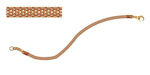 Picture of PULSERA MALLA 4 mm SS 316L, IP ROSE 20 cm