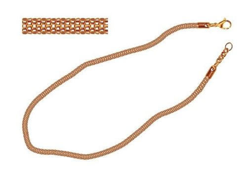 Picture of COLLAR MALLA 4 mm SS 316L, IP ROSE 45 cm