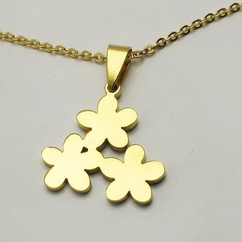 Picture of COLLAR SS 316 L, IP GOLD 3 FLORES
