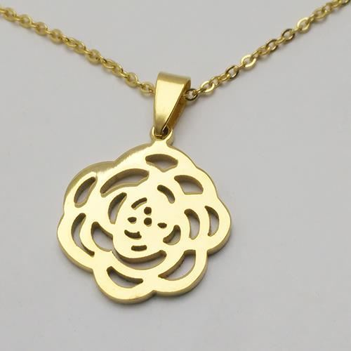 Picture of COLLAR SS 316 L, IP GOLD FLOR