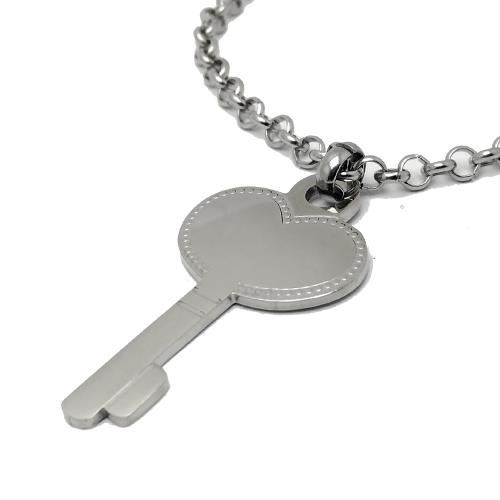 Picture of COLLAR SS 316 L, LLAVE CORAZON 50 mm