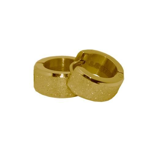 Picture of PENDIENTE SS 316 L, DIAMANTADO GOLD 12*7 mm
