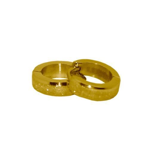 Picture of PENDIENTE SS 316 L, DIAMANTADO IP GOLD 12*4 mm