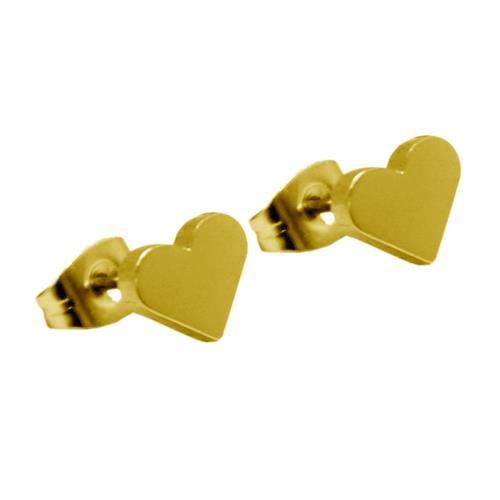 Picture of PENDIENTES SS 316 L, IP GOLD CORAZON