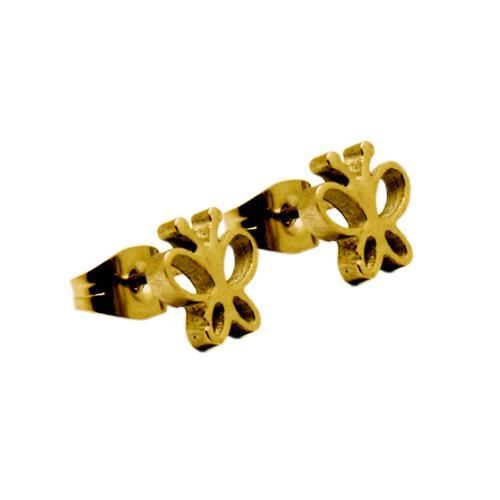 Picture of PENDIENTES SS 316 L, IP GOLD MARIPOSA
