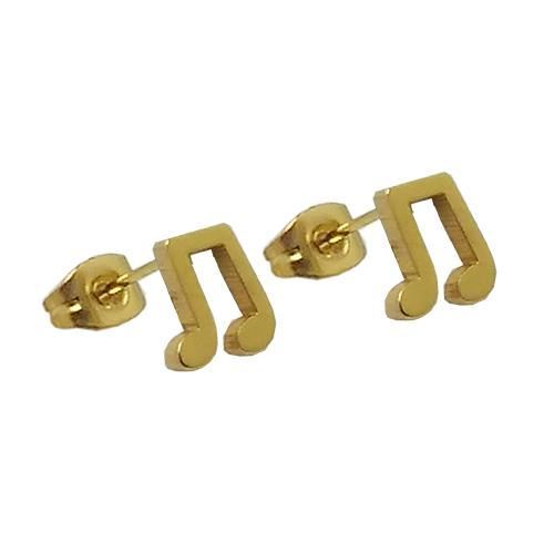 Picture of PENDIENTES SS 316 L, IP GOLD CORCHEA DOBLE