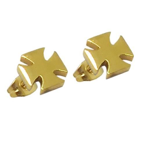 Picture of PENDIENTES SS 316 L, IP GOLD, CRUZ TEMPLE