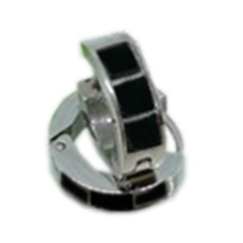 Picture of PENDIENTE SS 316 L, ESMALTES NEGRO 12 mm