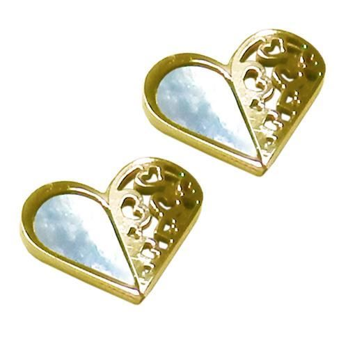 Picture of PENDIENTE ACERO 316 L, CORAZON NACAR, IP GOLD