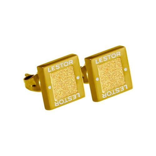 Picture of PENDIENTE ACERO 316 L, GLAZY GOLD, IP GOLD
