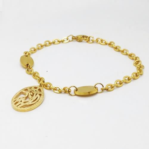 Picture of PULSERA ACERO 316 L, VIRGEN DIAMANTADO, IP GOLD