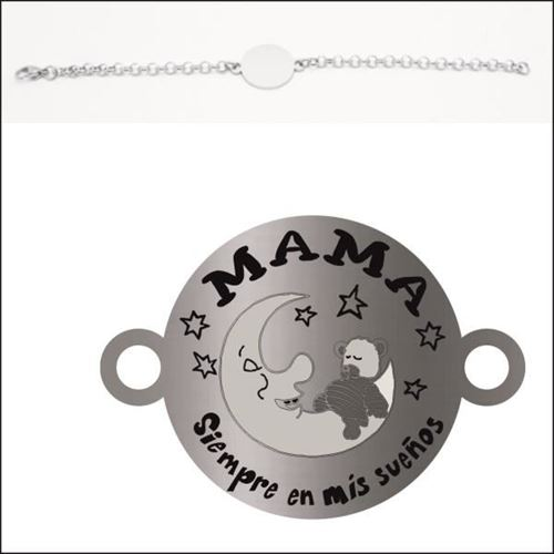 Picture of PULSERA ACERO 316 L, CHAPA LINEA 22 mm MAMA