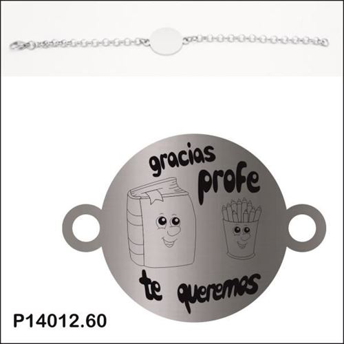 Picture of PULSERA ACERO 316 L, CHAPA LINEA 22 mm PROFES
