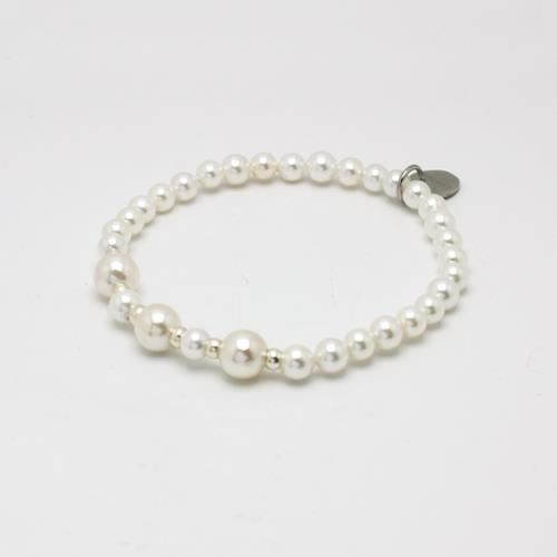 Picture of PULSERA NIÑA SS 316 L, PERLA 4,5 mm BLANCA