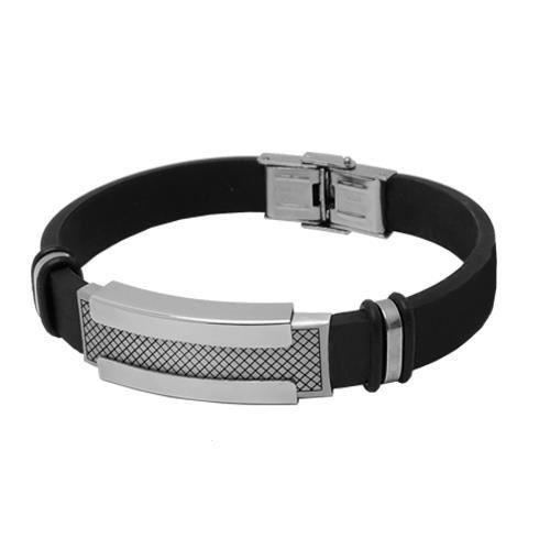 Picture of PULSERA SS 316 L, ACERO Y CAUCHO , 10 mm