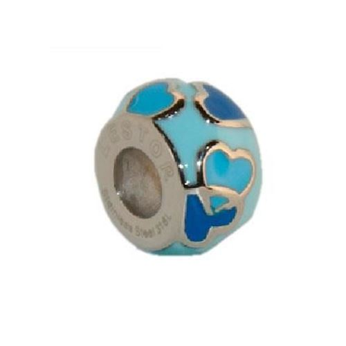 Picture of BEAD ACERO 316 L, ESMALTE 3 AZULES
